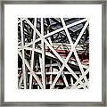 Detail Of The Beijing National Stadium Framed Print by Brendan Reals