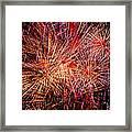 Diffuse Fireworks  Framed Print