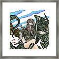 Digital Dragon Rider Colour Version Framed Print