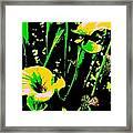 Digital Green Yellow Abstract Framed Print