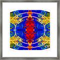 Dimensional Eyesight Abstract Living Artwork By Omaste Witkowski Framed Print