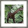 Dino In The Bronx Three Framed Print