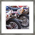 Dirt Bikes Framed Print