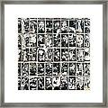 Dirty Wall Of Tiles And Paper Texture Framed Print