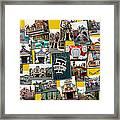 Disneyland Toontown Yellow Collage Framed Print