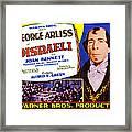 Disraeli, George Arliss On Title Card Framed Print