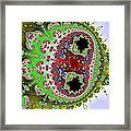 Distorted Multibrot Twins Framed Print