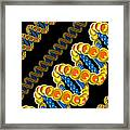 Dna Strand - Dna Strands Art - Genetics Genetic - Gene Genes - Conceptual - Abstract Illustration Framed Print