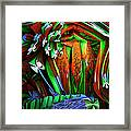 Dog Shrine With Flowers Framed Print by Ned Haw
