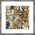 Dog Spread Framed Print by Ditz
