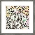 Dollars Background.  Framed Print