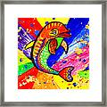 Dolphin Pop Art  Framed Print