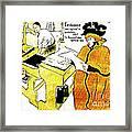 Domain-le Stamp Framed Print