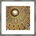 Dome Of St Peter's Basilica Vatican City Italy Framed Print
