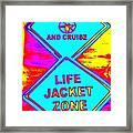 Don't Booze And Cruise Framed Print