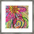 Doodle Flowers Framed Print