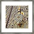 Doors Of The Hassan Mosque In Rabat Framed Print