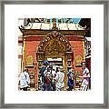 Doorway In Bhaktapur Durbar Square In Bhaktapur-nepal Framed Print