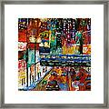 Downtown Friday Night Framed Print