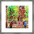 Downtown Montreal Mcgill University Streetscenes Framed Print