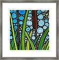 Dragonfly Pond By Sharon Cummings Framed Print