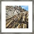 Dramatic Lava Rock Formation Called The Dragon's Teeth In Maui. Framed Print