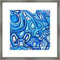 Dreaming In Blue Framed Print