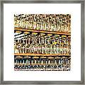 Drinks On The House In Smoky Gold Framed Print