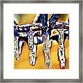 Dripping Away Framed Print