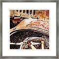 Drive The Tires Off Framed Print