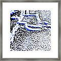 Driveway Frost Framed Print