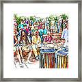Drum Circle Of Friends Framed Print