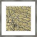 Dry Soil In Lake Bottom During Dryness Framed Print