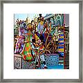 Early Morning Main Street With Mickey Walt Disney World 3 Panel Composite Framed Print