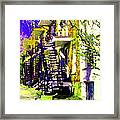 Early Spring Stroll City Streets With Spiral Staircases Art Of Montreal Street Scenes Carole Spandau Framed Print