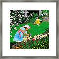 Easter At Grandma's Framed Print by Edward Fuller