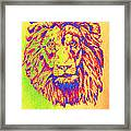 Electric Lion Framed Print
