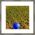 Elevated View Of Hot Air Balloon Framed Print