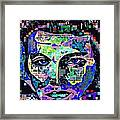 Elvis The King Abstract Framed Print