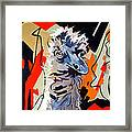 Emu Design In Acrylic Framed Print