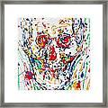 Enamels Skull Painting Framed Print
