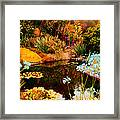 Enchaned Blue Lily Pond Framed Print