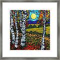 End Of Summer Birches Framed Print