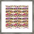 Enjoy Bliss Of Artistic Sensual Aura Lips  Kiss Romance Pattern Digital Graphic Signature   Art  Nav Framed Print