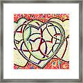 Entangled Hearts Framed Print by Karunita Kapoor
