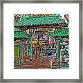 Entry Gate To Chinatown In San Francisco-california Framed Print