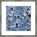Enya Blue Framed Print