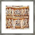 Erotic Human Sculptures Khajuraho India Framed Print