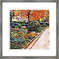 Evening Garden Stroll Framed Print by David Lloyd Glover