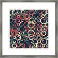 Evening Geometric Circle Segment Pattern Framed Print